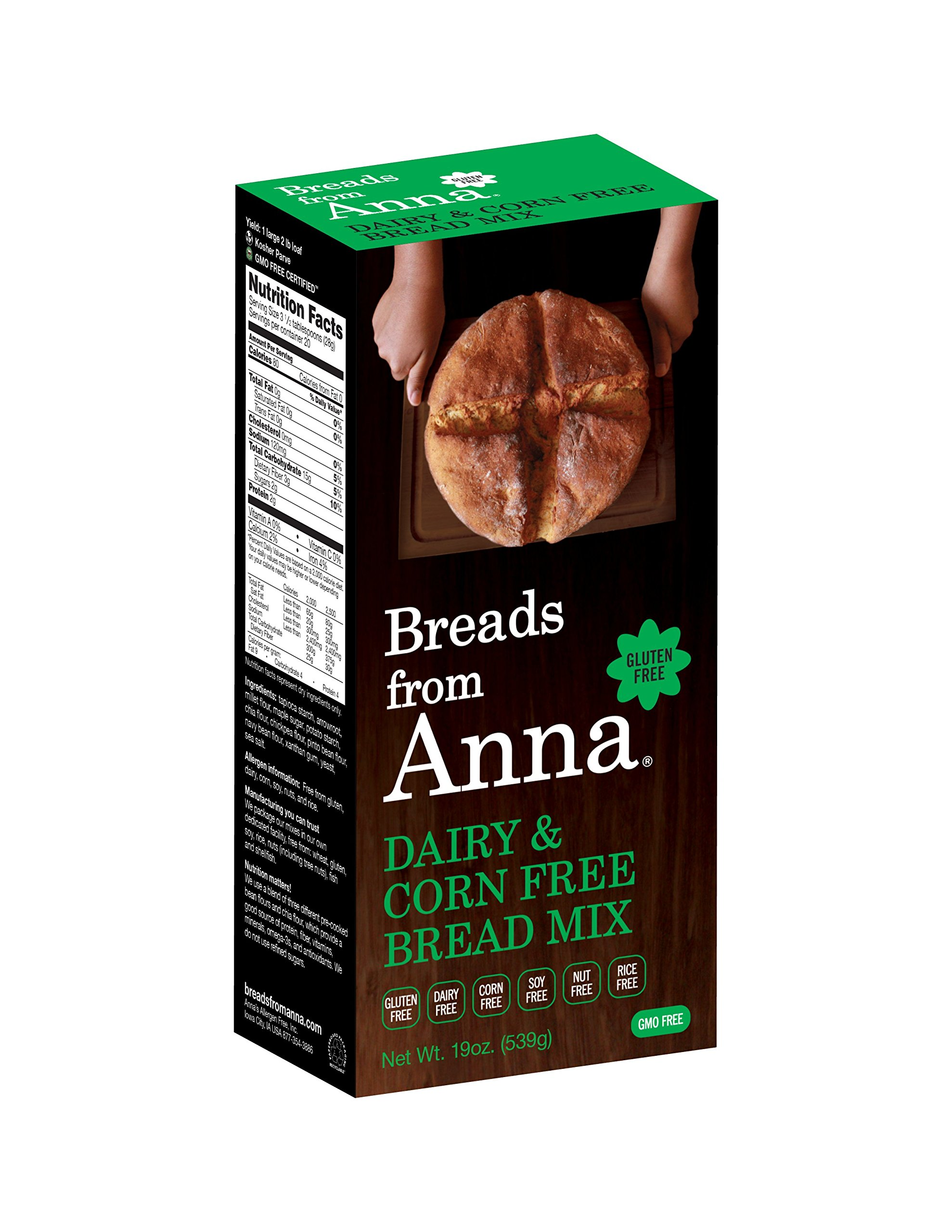 Breads from Anna Bulk 25lbs-Breads from Anna Dairy and Corn Free Bread Mix Gluten-free, Dairy Free, Corn Free, Soy Free, Rice Free, Nut Free