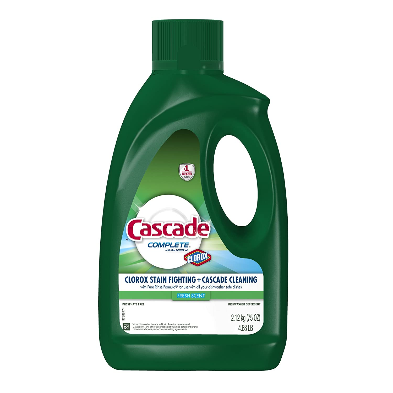カスケード コンプリートジェル クロロックス 食洗機用洗剤 フレッシュラピッド 75オンス B00LO1RV0G  1