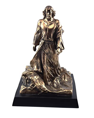 It is I, Be Not Afraid 13 Inch Bronze Resin