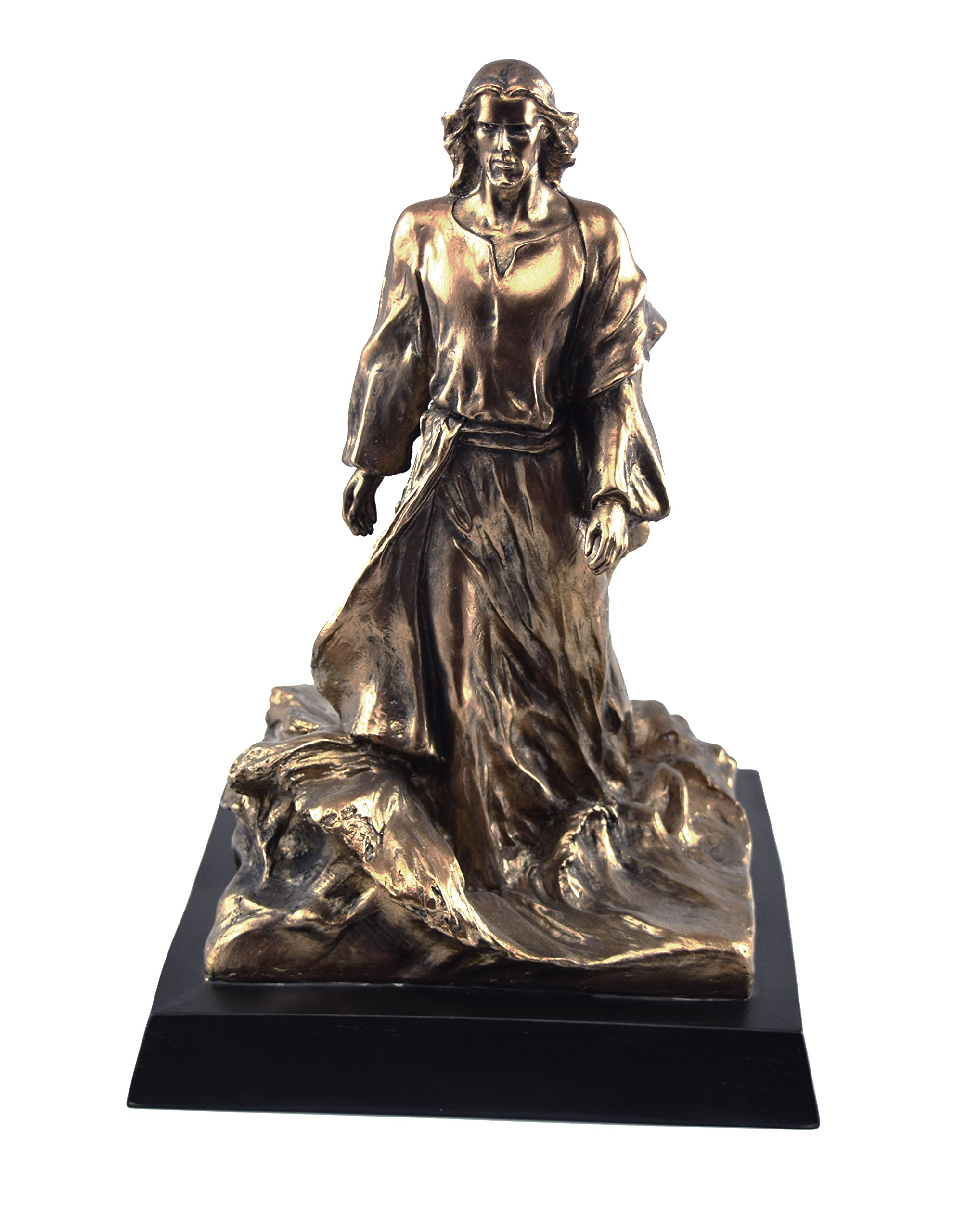 ''It is I, Be Not Afraid'' 13 Inch Bronze Resin by AJ Sculptures