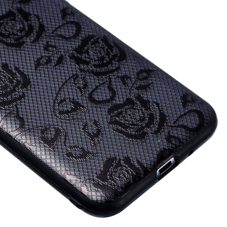 Black Rose J310 Housse Etui Pour Samsung Galaxy J3 2016 Coque Galaxy J3 2016,Grandoin 2 en 1 Ultra Mince Coque Transparente Silicone Gel TPU Souple avec Cute Motif Dessin Mignon Imprim/é