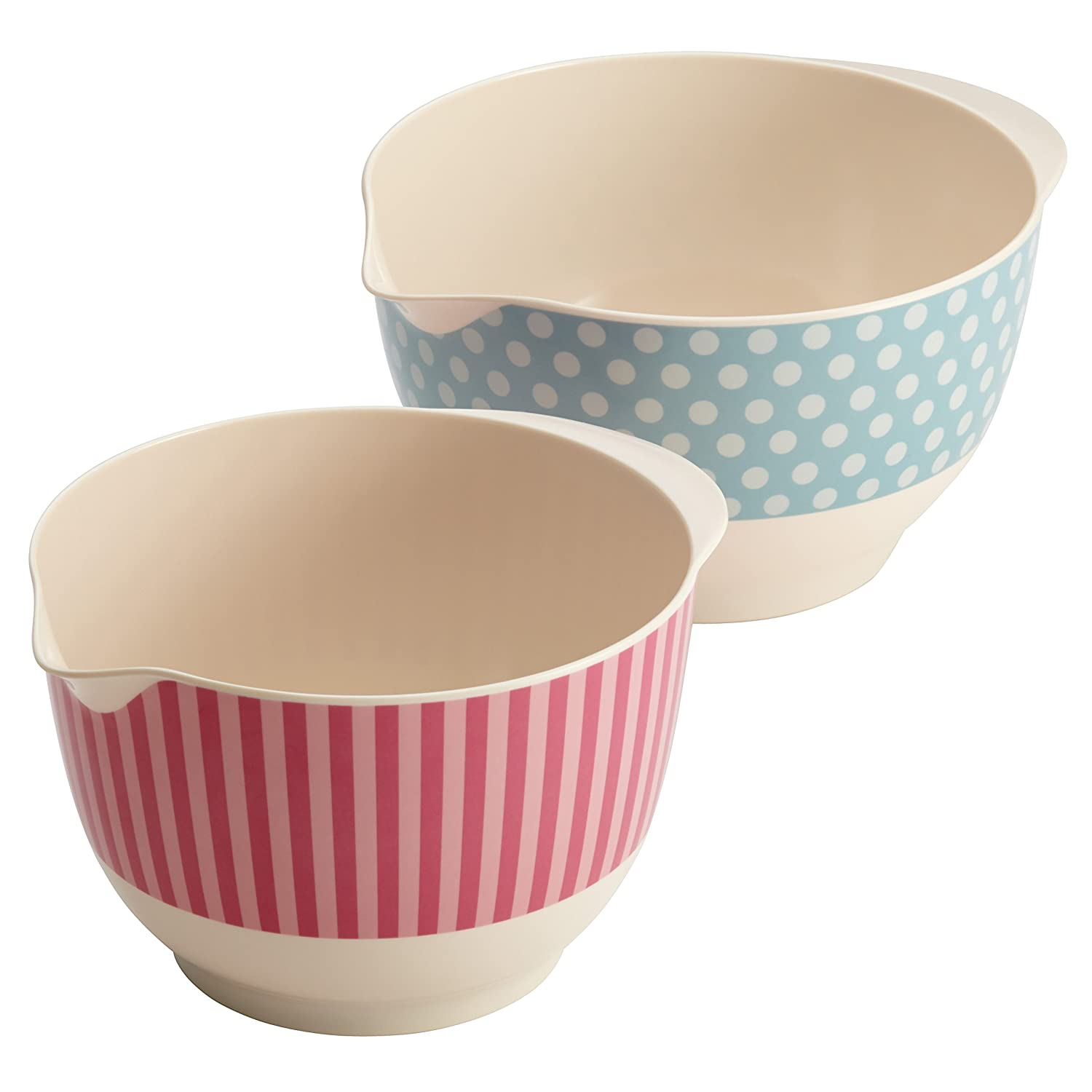Melamine Mixing Bowls, Set of 2