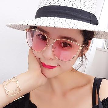 VVIIYJ Ojo Mujer Rosa Transparente Gafas de Sol Femeninas ...