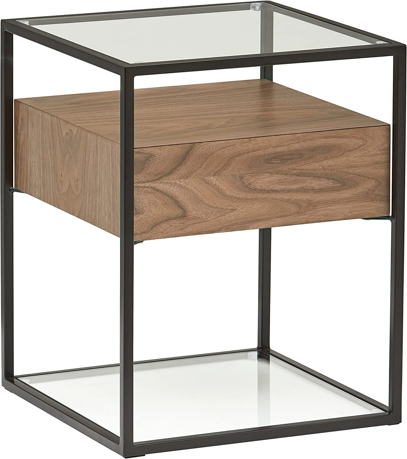 Cpap Table Nightstand Supplies Rollout Shelf Access Opening Side//Back Oak