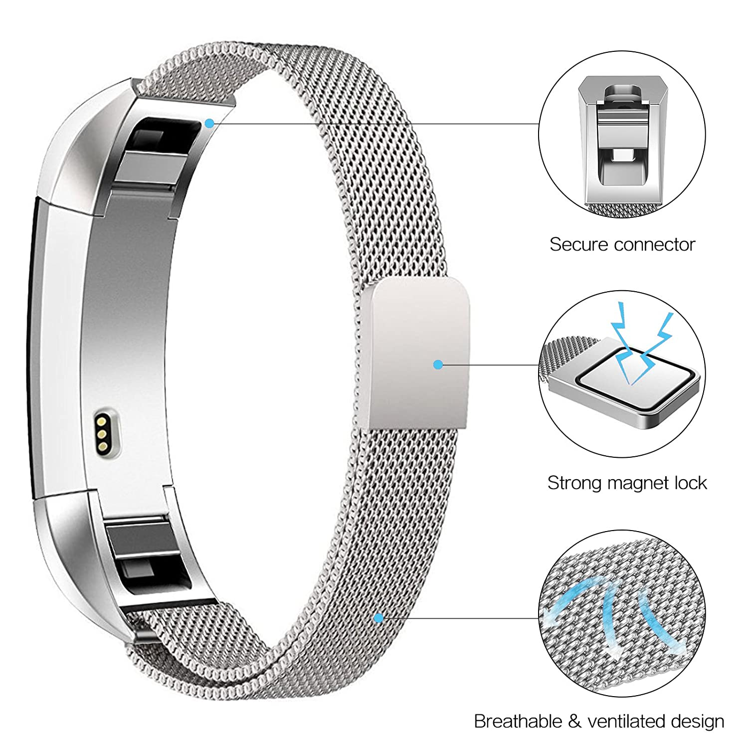 Swees Fitbit Metal Small Large Image 3