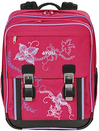 a904c2b8727da 4You Flash Schulrucksack Classic Plus 344 Flower Lace 344 flower lace