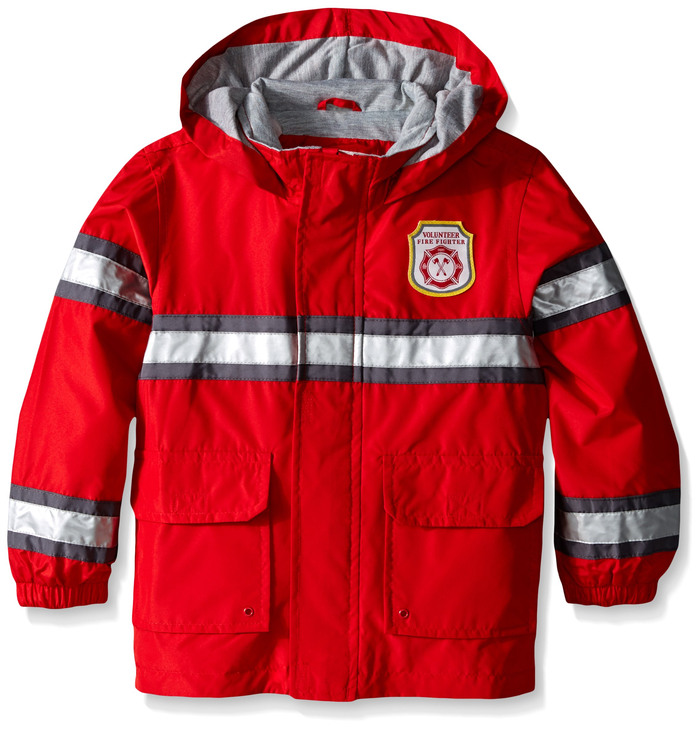 Carter's Boys' Raincoat Fireman Slicker, Red, 7