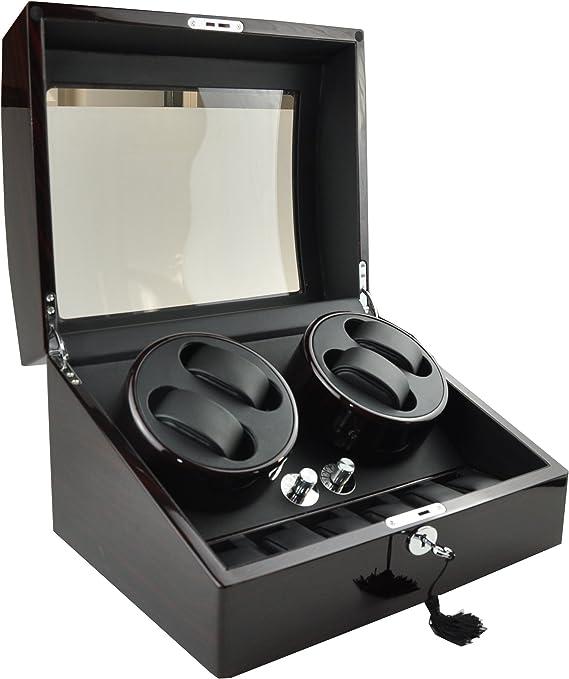 Estuche expositor y cargador automático OneToPia de lujo para relojes con capacidad para 4 relojes: Amazon.es: Relojes