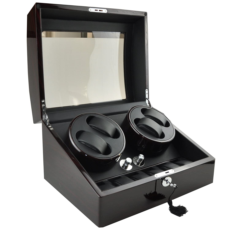onetopia 4 + 6 Automatische Uhrenbeweger Luxus Display Aufbewahrungsbox Fall Organizer Geschenk...