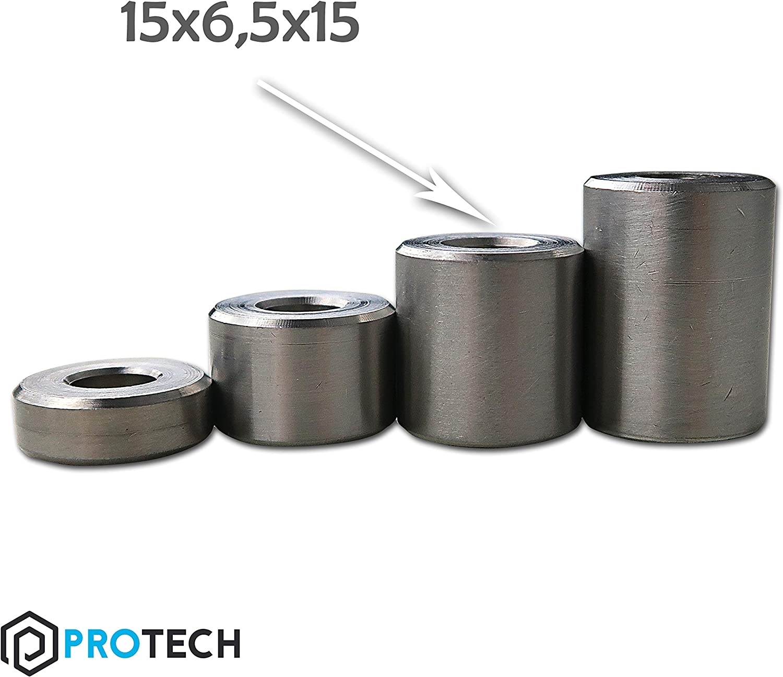 PROTECH 10 St/ück Distanzh/ülsen aus Edelstahl 8x6x10 Abstandhalter Stahl A2 V2A Distanzbuchse Distanzring Buchse