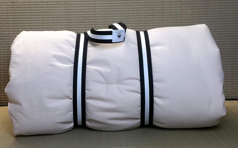 Massaggio: in Puro Cotone Futon 65x185x4 cm Pieghevole e trasportabile FUTON Italy Color Greggio per shiatsu Yoga