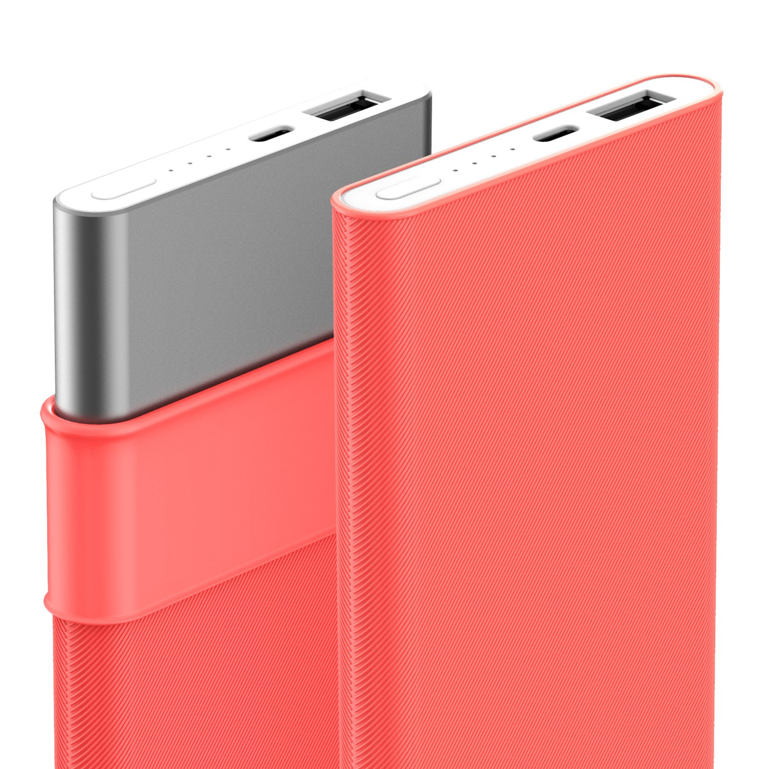 Mi Power Bank Pro 10000mAh Silicone Case, MASCARRY Soft Protective Cover Sleeve for Mi Power Bank Pro 10000mAh Portable Charger- Black/White/Pink ...