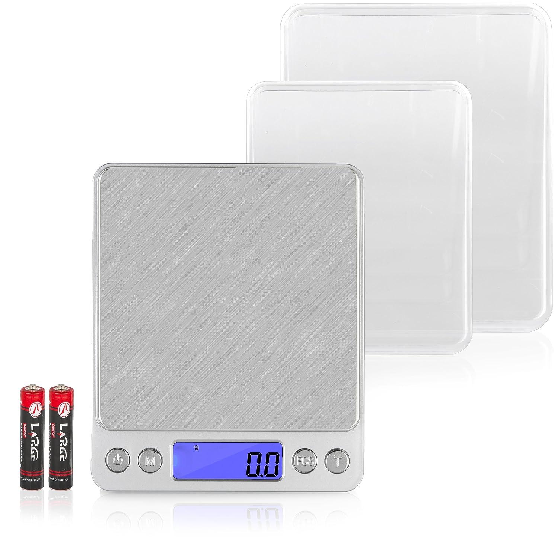 Kakuna Báscula Digital Báscula portátil diabéticos - Industrial con función de Tara hasta 2 kg para Viajes y Viajes - Tamaño: 13 x 10 x 2 cm: Amazon.es