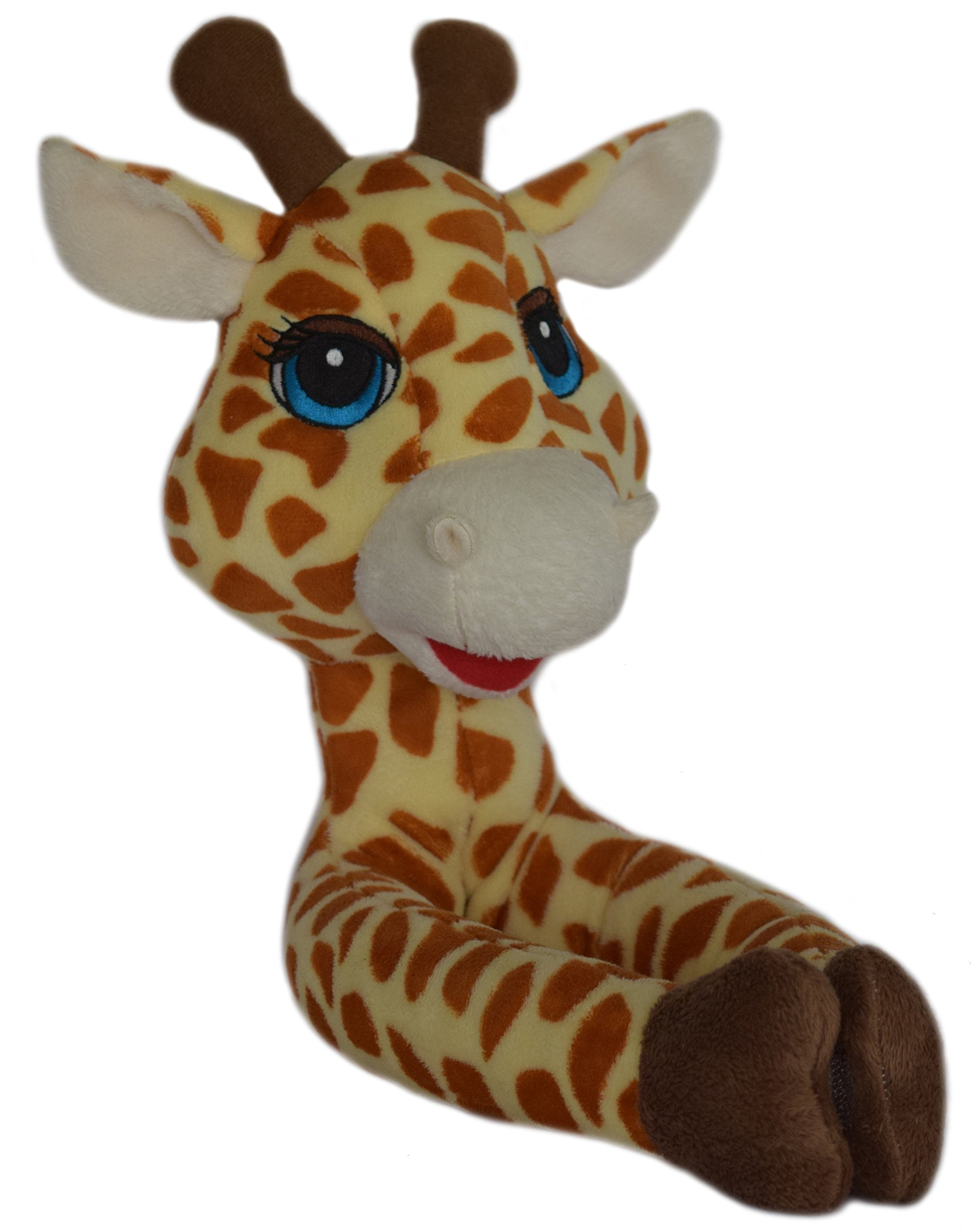 Curtain Critters ALGFMY240510COL Plush Safari Giraffe and Chocolate Monkey Curtain Tieback Collector Set by Curtain Critters