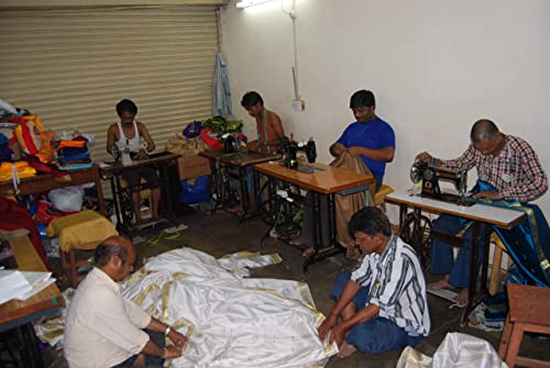 Indian Selections Fire Brick Tab Top Sheer Sari Curtain/Drape/Panel