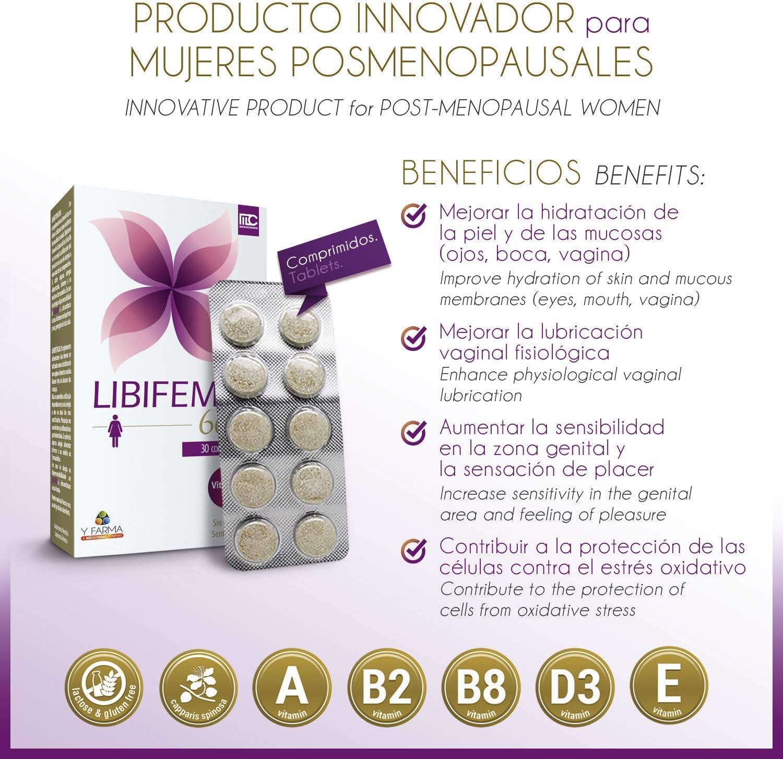 LIBIFEME 60 + Mejora la Lubricacion Vaginal y La Sensibilidad en ...