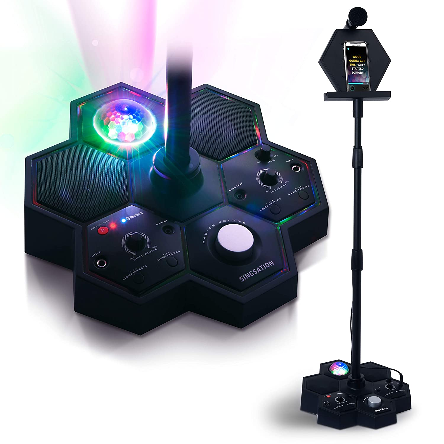 Singsation All-In-One Karaoke System & Party Machine - Performer Speaker w/Bluetooth Microphone Sing Stand - No CDs! - Kids or Adults Can Use YouTube for Favorite Karaoke Videos or Songs