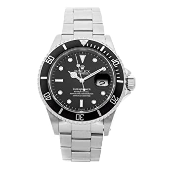 59b5e0237ea Image Unavailable. Image not available for. Color: Rolex Submariner  Mechanical (Automatic) Black Dial Mens Watch 16610 ...