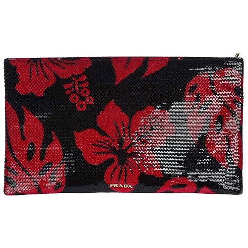 Prada bolso de mano pochette mujer nuevo rojo: Amazon.es: Zapatos y complementos