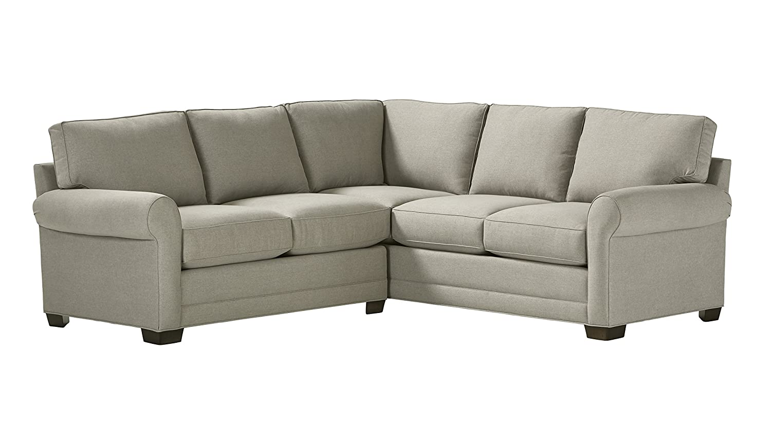 "Stone & Beam KristinPerformance Fabric Sectional Sofa, 93""W, Stone"