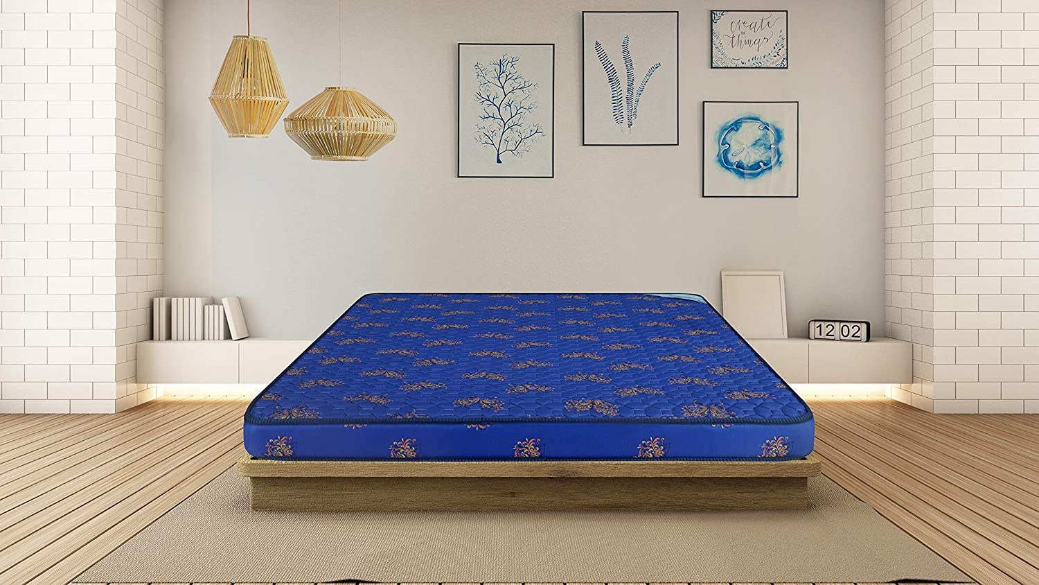 Nilkamal Floatel 4-inch King Size Foam Mattress (Blue, 78x72x4 inch)