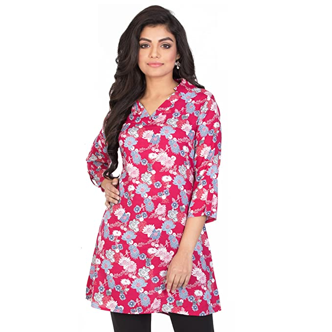 b12c718ef60 Floral Printed Rayon Tunic: Amazon.in: Clothing & Accessories
