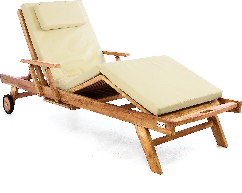 Sonnenliege Verstellbar Streckmetall Gartenliege Strandliege Liegestuhl Neu V4L3
