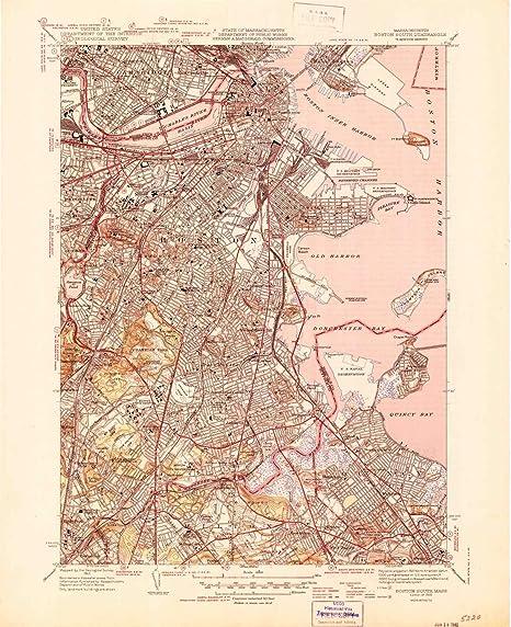 Amazon.com : YellowMaps Boston South MA topo map, 1:31680 ... on map of metro boston ma, map of streets north adams, map of mass coastline, map of so shore ma, map of ri and ma,