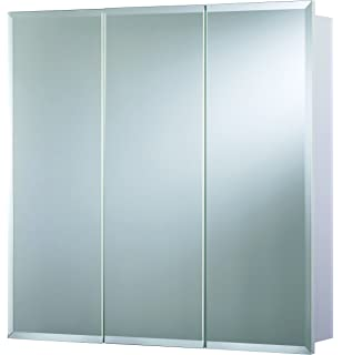 Croydex Heacham 30 Inch X 30 Inch Triple Door Tri View Cabinet With