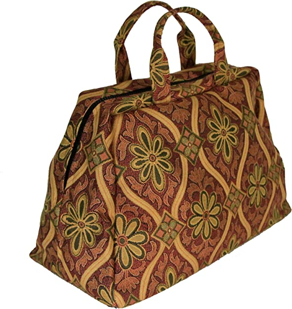 Victorian Purses, Bags, Handbags Small Deluxe Mary Poppins Victorian Carpet Bag $74.44 AT vintagedancer.com