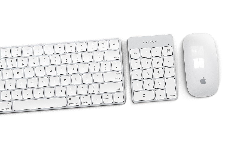iPhone Lenovo et Plus MacBook Dell iMac Pro SATECHI Pav/é Num/érique Fin sans Fil Bluetooth 18 Touches pour Entr/ée de Donn/ées Excel Or iPad MacBook Pro Compatible avec iMac 2017