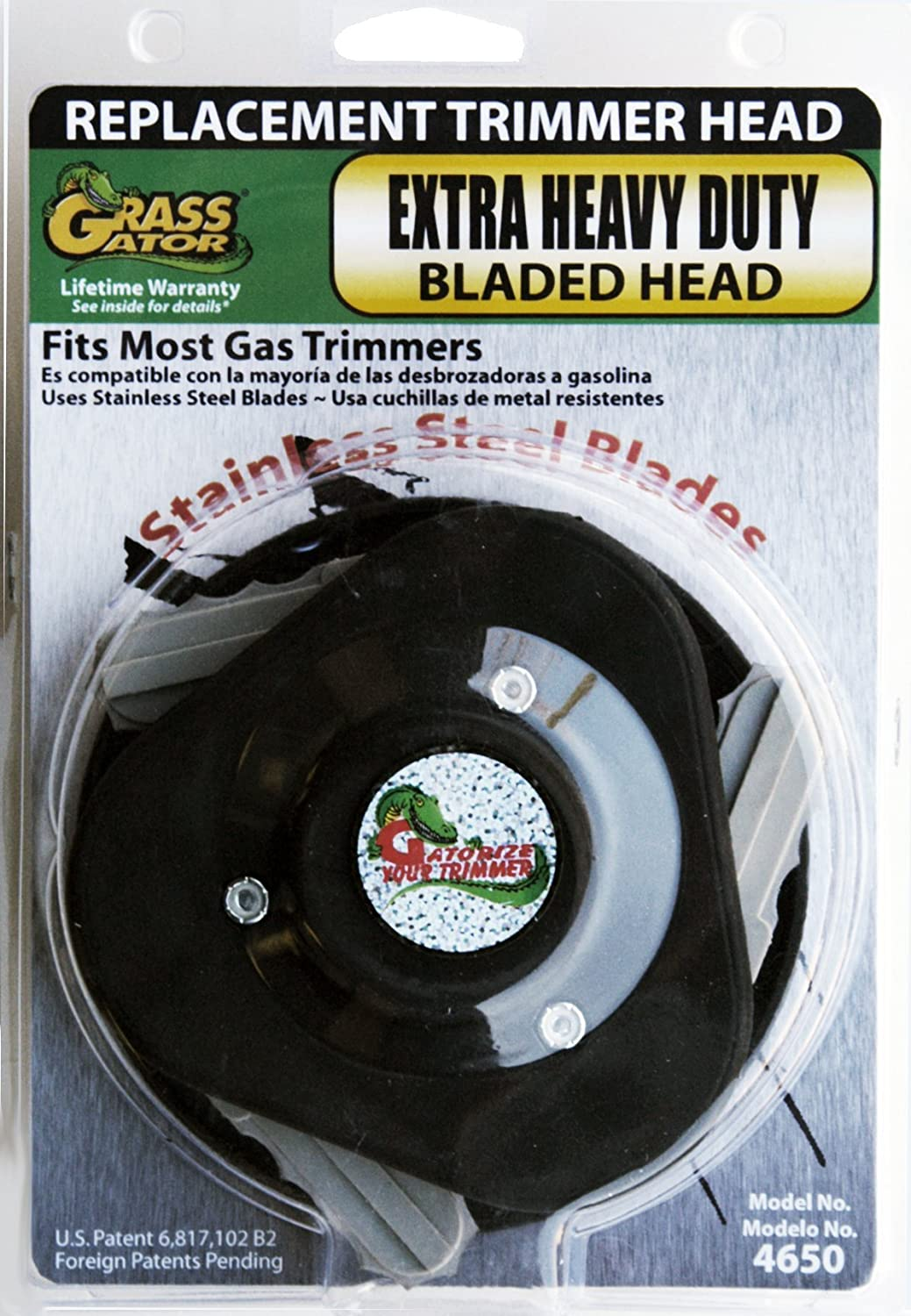 Grass Gator 33GG4650 Brush Cutter Extra Heavy Duty Replacement String Trimmer Head