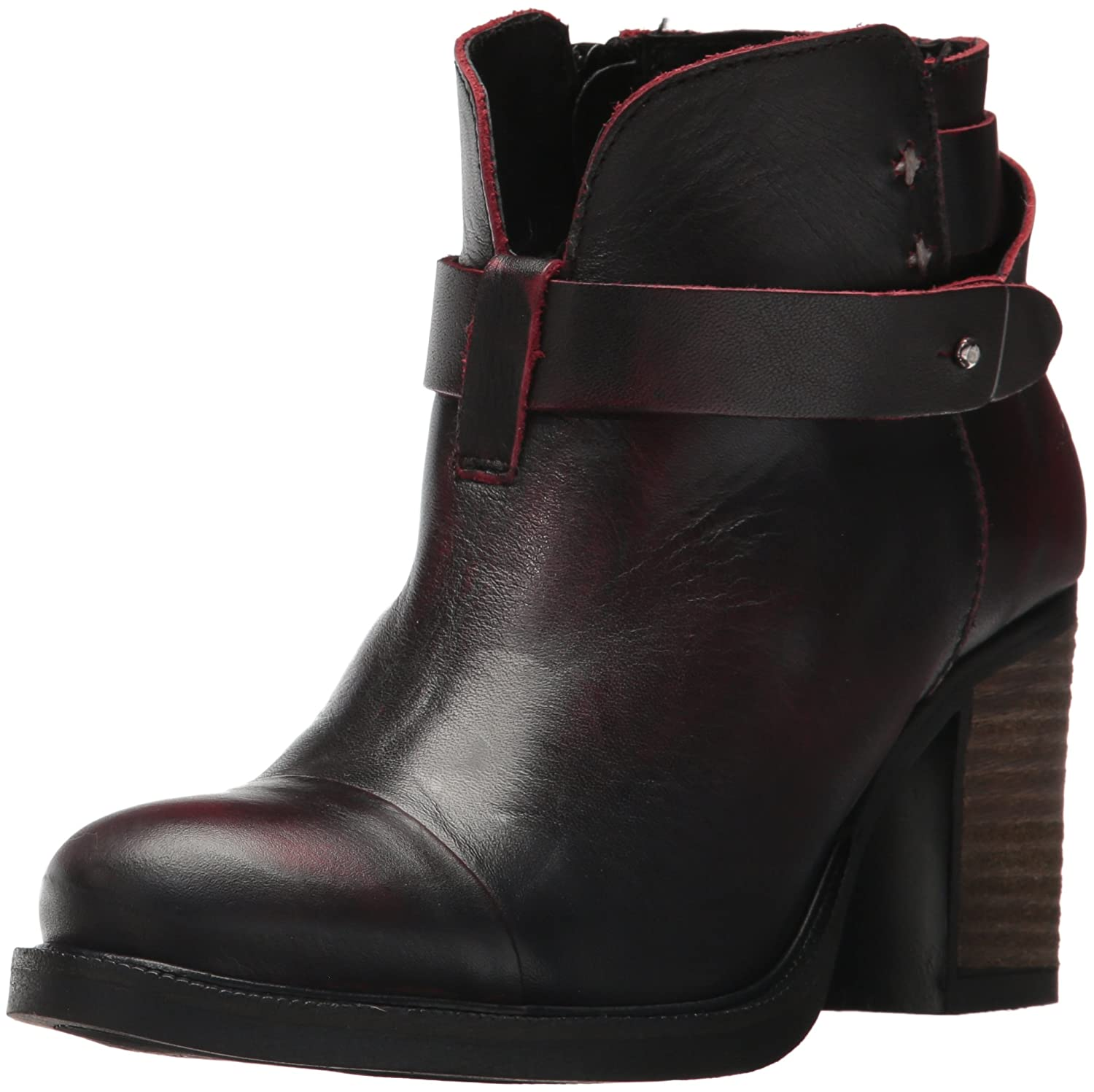 Bos. & Co. Women's Bonne Ankle Boot B06WXX7MHT 37 M EU (6.5-7 US)|Bordo Batidune Leather