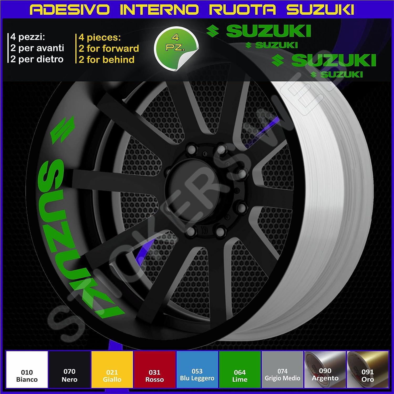 Autocollants pour int/érieur de jantes Suzuki Bandit GSX Cod 0274 Vstrom  070 Nero GSX-R