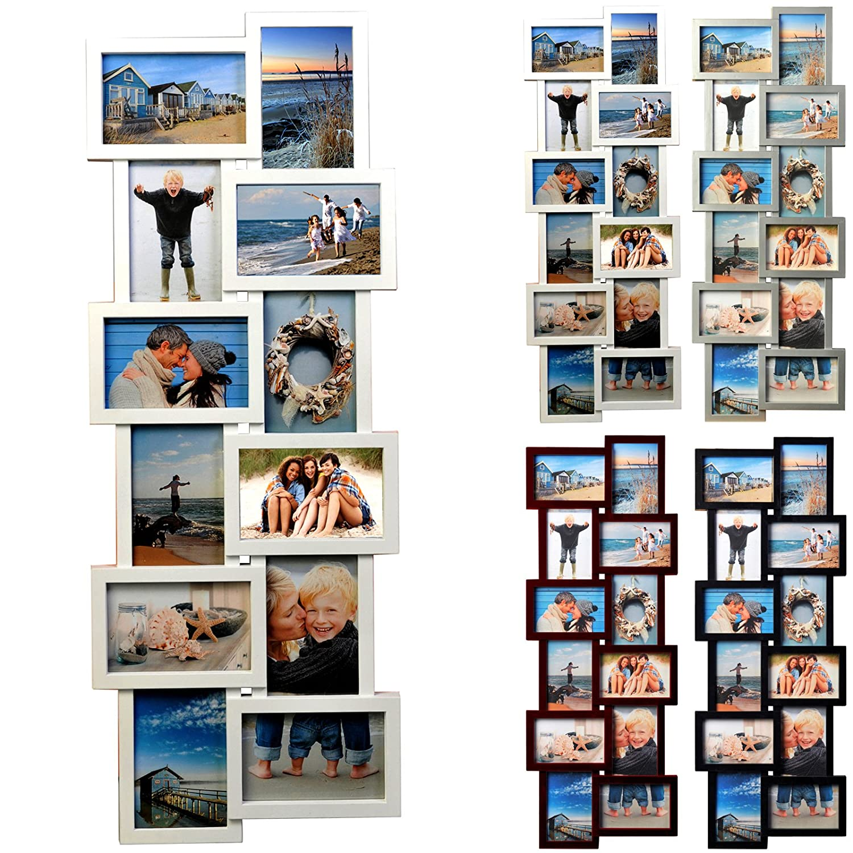 Amazon.de: 12 Fotos Collage Bilderrahmen #15, Kunststoff Rahmen ...