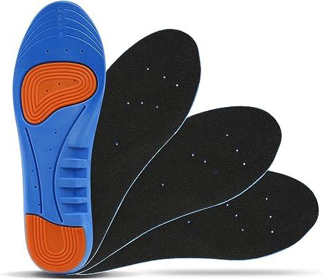 LIHAO 2 Pares de Plantillas Zapatos Unisex Plantillas Gel ...