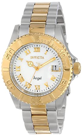 Invicta Womens 14364 Angel Analog Display Swiss Quartz Two Tone Watch