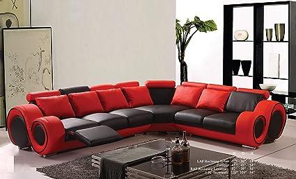 Amazon.com: Esofastore Modern Classic Contemporary Red and Black ...