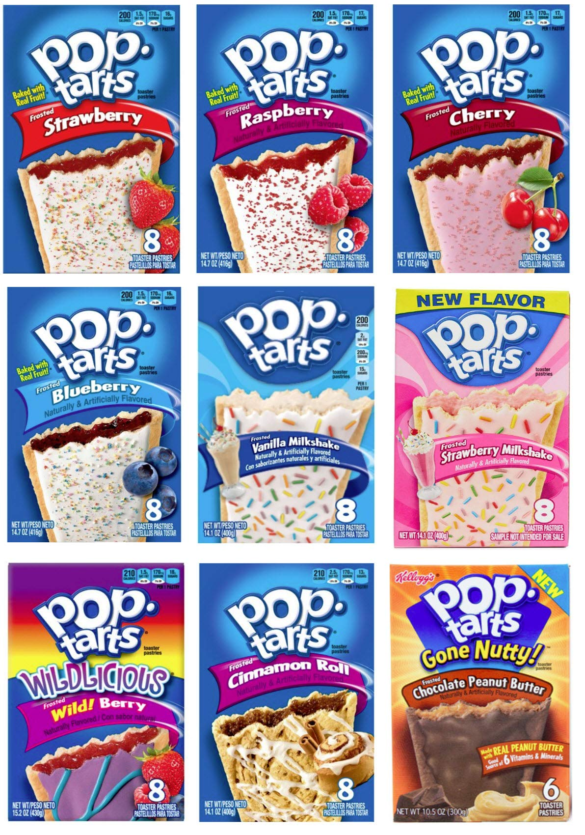 9 Pack! The Fruit Flavored Ultimate Pop Tart Variety Pack 9 Flavors - Bundle of 9 Boxes, 1 Box of Each Flavor by Narrow Path Sales (Image #3)