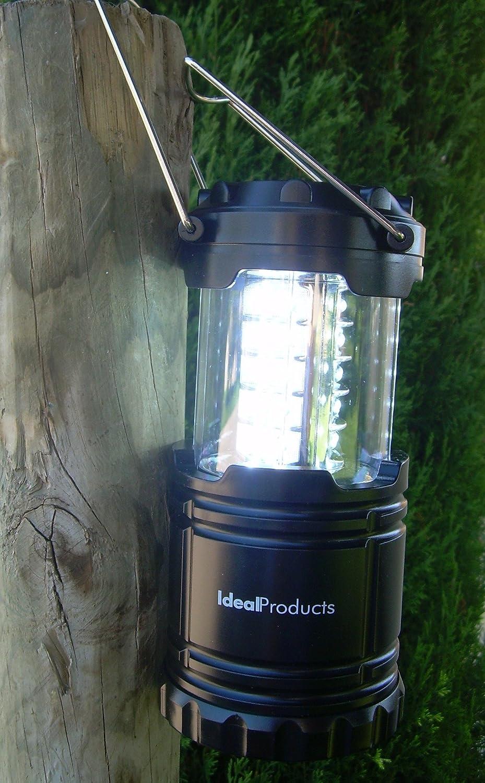 Ideal Products Lampada LED per Camping con Luce Ultra Intensa di 360/° Costruzione di Grado Militare Risparmia Spazio e Peso nel Bagaglio Piegabile Speciale per Le emergenze.