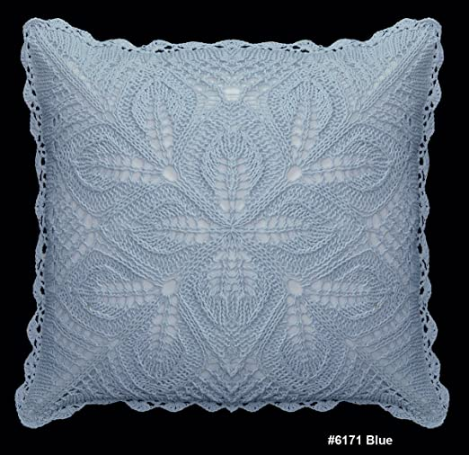 Creative Linens - Almohada de crochet de algodón Cojín 16 x ...