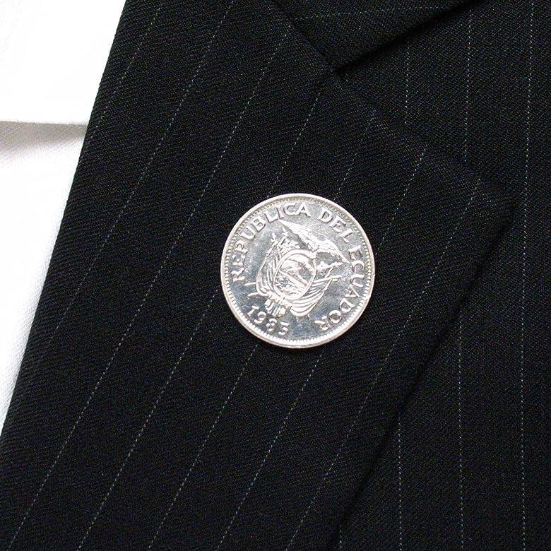 Ecuador moneda Tie Tack – Pin bandera de bandera de traje corbata escudo joya Quito Guayaquil LDS misionero: Amazon.es: Joyería