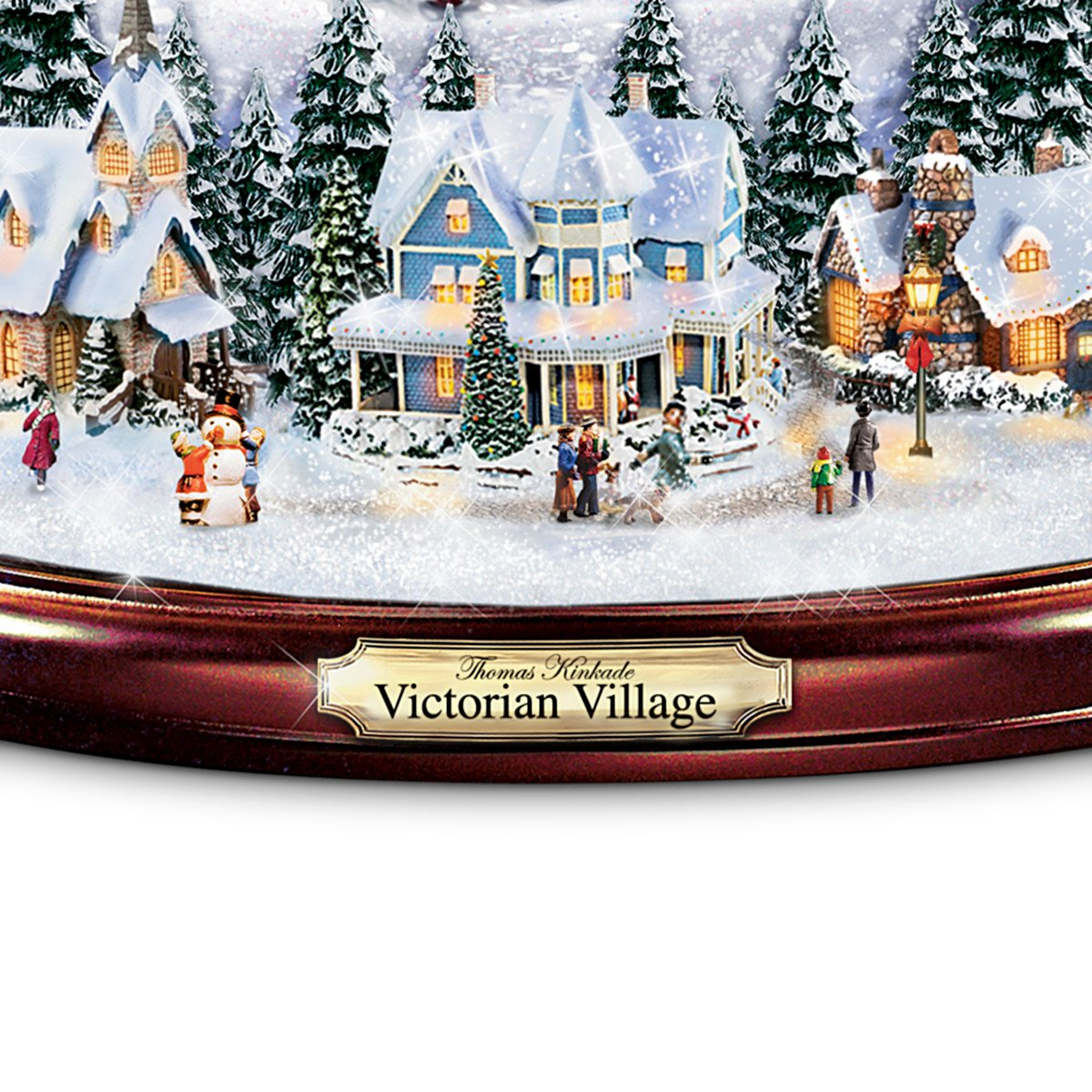 Amazon.com: Thomas Kinkade Victorian Village Illuminated Musical ...