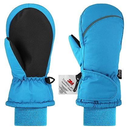 Fazitrip Kinderhandschuhe Fäustlinge Kinder Wasserdicht Winddicht Handschuhe Jungen Mädchen