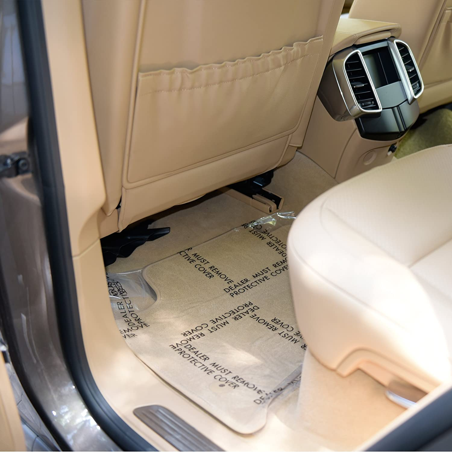 24 x 600 Sticky Disposable Car Floor Mats Protector Cover Sheets CARCAREZ Clear Adhesive Car Carpet Protector Film Roll