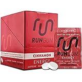 RUN GUM Cinnamon Energy Gum 50mg Caffeine Taurine & B-Vitamins Per Piece, 24 Pieces ( Pack of 12), 2 Pieces = 1 Coffee or Energy Drink, Sugar Free, Zero Calorie