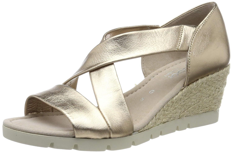 Beige (Space (Jute) 82) Gabor chaussures Comfort Sport, Sandales Bride Cheville Femme