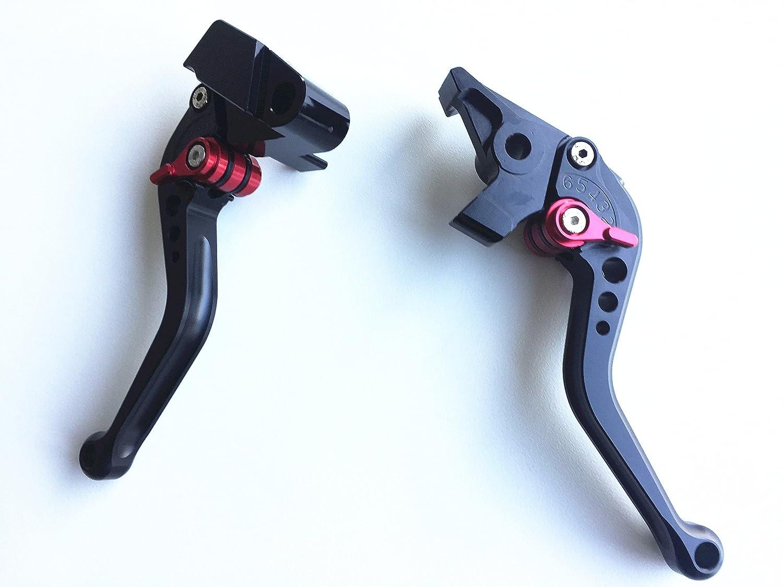 Short Brake and Clutch Levers for KAWASAKI NINJA 650R ER-6F ER-6N 2009-2016,Ninja400R 2011,Versys 650cc 2009-2014-Black