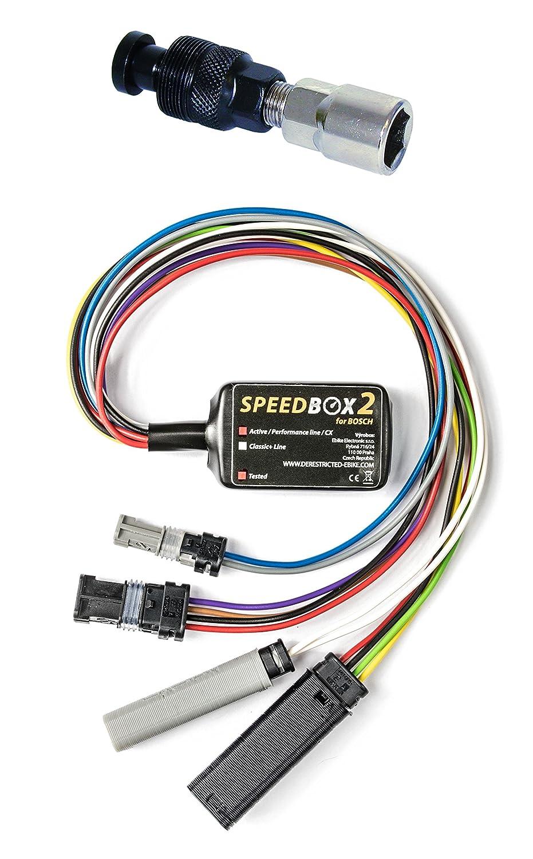 Speedbox E-Bike 2 Moteurs Bosch Pedelec avec indicateur de Vitesse r/éel et extracteur de Vitesse
