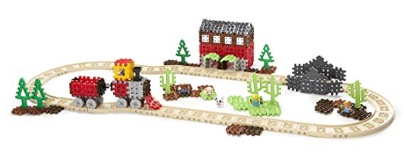 45c09ebb7add04 Little Tikes Waffle Blocks Steam Train  Amazon.co.uk  Toys   Games